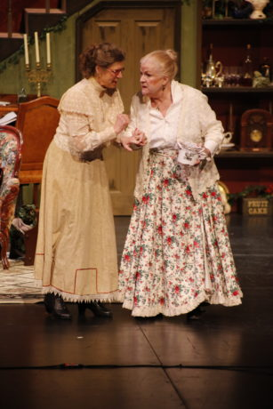 Catherine Lyon (Martha Brewster) and Beth Hughes-Brown (Abby Brewster) in The Arlington Players' production of Arsenic and Old Lace. Photo by Bermet Sydygalieva.