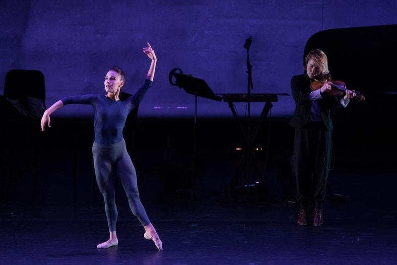 DEMO: Now: Patricia Delgado and Caroline Shaw (violin) in 'Solitude.' Photo by Teresa Wood.