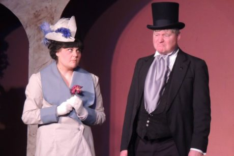 Megan E. West as Eliza and Steve Steele as Alfie in Way Off Broadway Dinner Theatre's production of 'My Fair Lady.' Photo courtesy of Way Off Broadway Dinner Theatre.