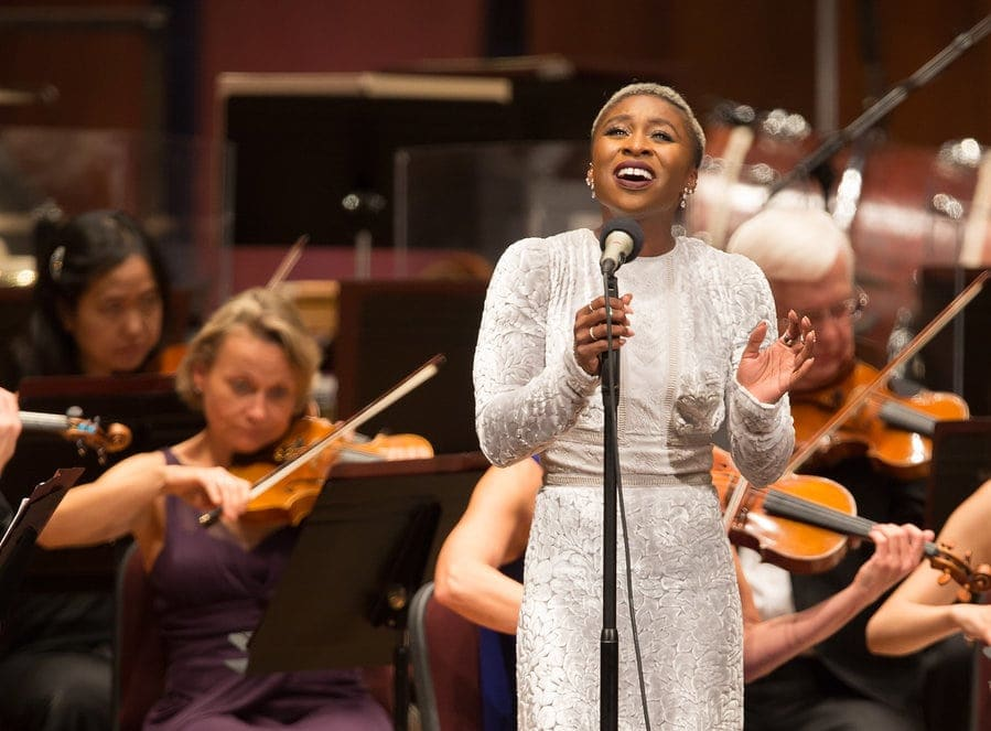 Cynthia Erivo performing in 2017 with the National Symphony Orchestra at the Kennedy Center. Photo by Scott Suchman.