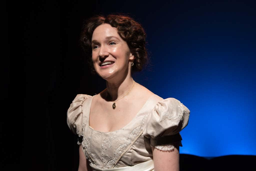 Laura Rocklyn as Elizabeth Bennet in Annapolis Shakespeare Company's production of 'Pride and Prejudice.' Photo by Joshua McKerrow.
