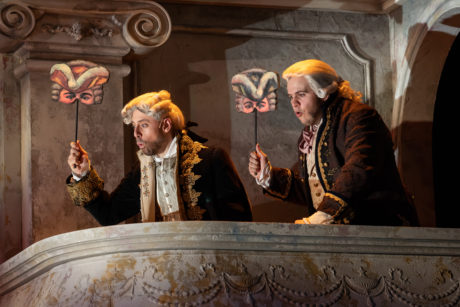 Anthony Michael Lopez and Vincent Randazzo in Shakespeare Theater Company's production of 'Vanity Fair.' Photo by Scott Suchman.