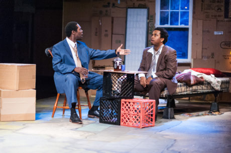 Jeremy Keith Hunter and Louis E. Davis in Avant Bard's production of 'Topdog/Underdog.' Photo by DJ Corey Photography.