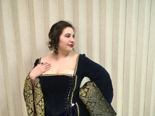Anastasia Brunk in 'A Comedy of Errors.' Photo courtesy of Britches and Hose.