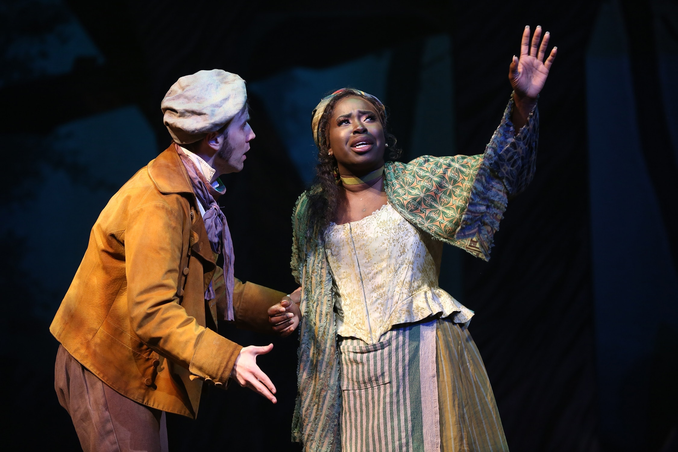 Evan Casey and Awa Sal Secka as the Baker and the Baker's Wife. Photo by Carol Rosegg.