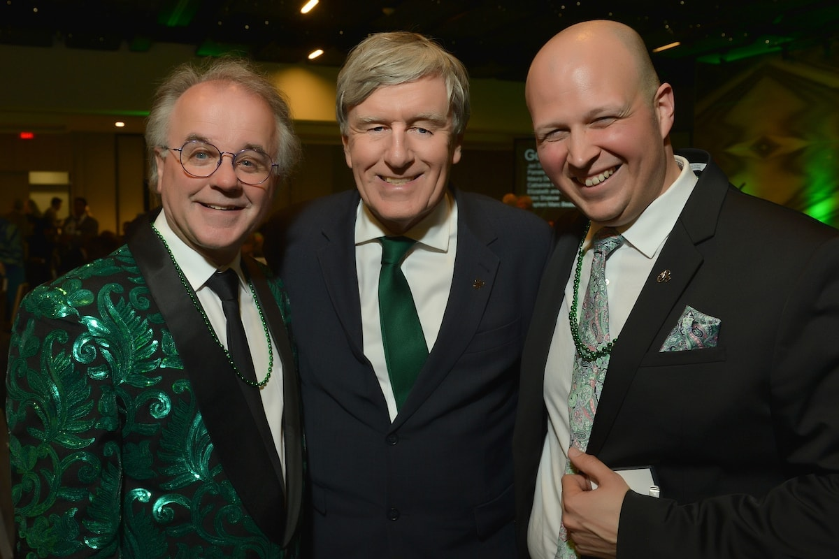 Artistic Director Christopher Bell, Irish Ambassador Daniel Mulhall, Executive Director Stephen Beaudoin. Photo by Shannon Finney.
