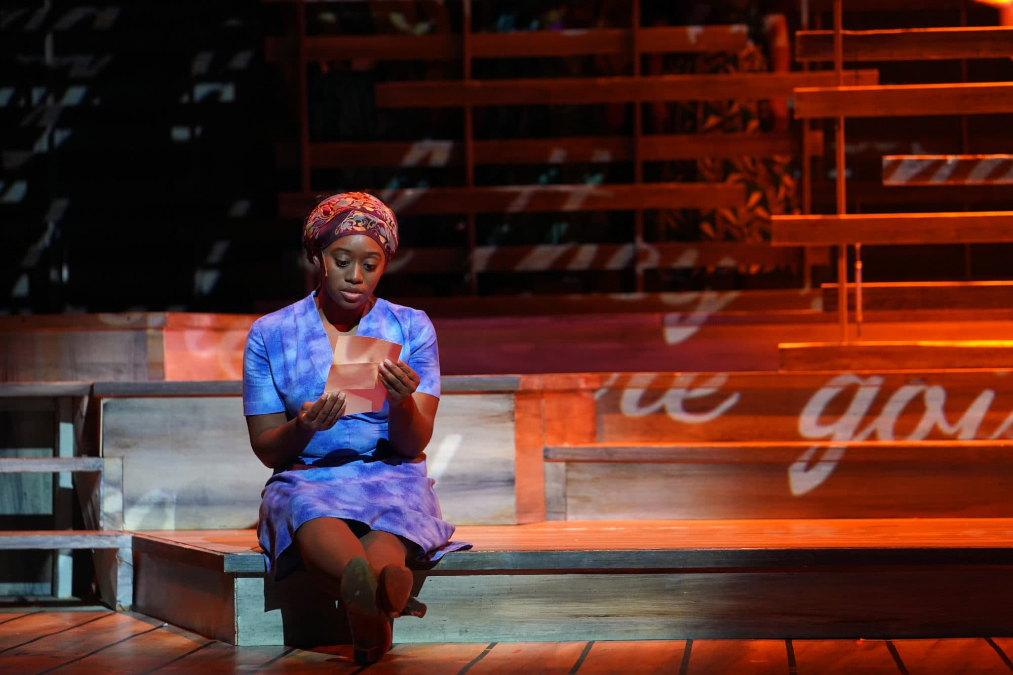 Kanysha Williams as Celie in 'The Color Purple' at Riverside Center for the Performing Arts. Photo by Susan Carr-Rossi.