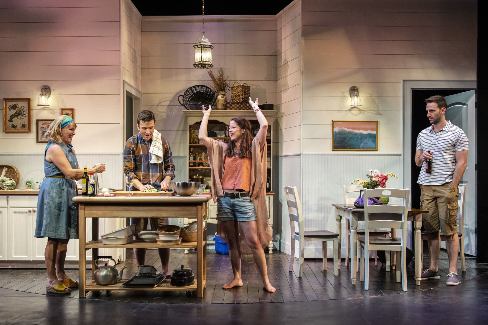 Beth Hylton, M. Scott McLean, Megan Anderson, and Danny Gavigan in 'Dinner with Friends.' Photo by Teresa Castracane.
