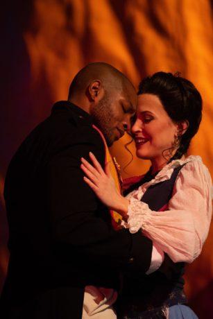 Frederick Ballentine and Cassandra Velasco in Annapolis Opera's production of 'Carmen.' Photo courtesy of Annapolis Opera.