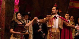 Cassandra Velasco and Richard Ollarsaba in Annapolis Opera's production of 'Carmen.' Photo courtesy of Annapolis Opera.
