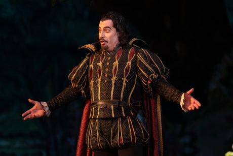 Bass Raymond Aceto as Mephistopheles in WNO's production of 'Faust.' Photo by Scott Suchman.