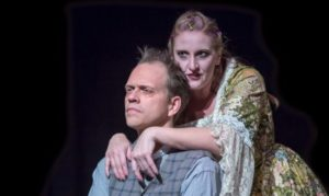 Hans Dettmar and Elizabeth Hester in Kensington Arts Theatre's 'Sweeney Todd.' Photo by McLaughlin Photography.