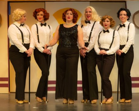 Miranda Snyder, Abby McDonough, Robyn Bloom, Marcie Prince, Maggie Mellott and Lisa Rigsby in Silhouette Stages' production of 'Anything Goes.' Photo by Russell Wooldridge.