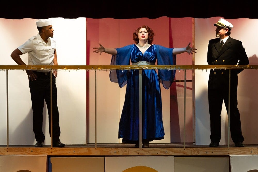Lawrence Custis, Robyn Bloom and Doug Thomas in Silhouette Stages' production of 'Anything Goes.' Photo by Russell Wooldridge.