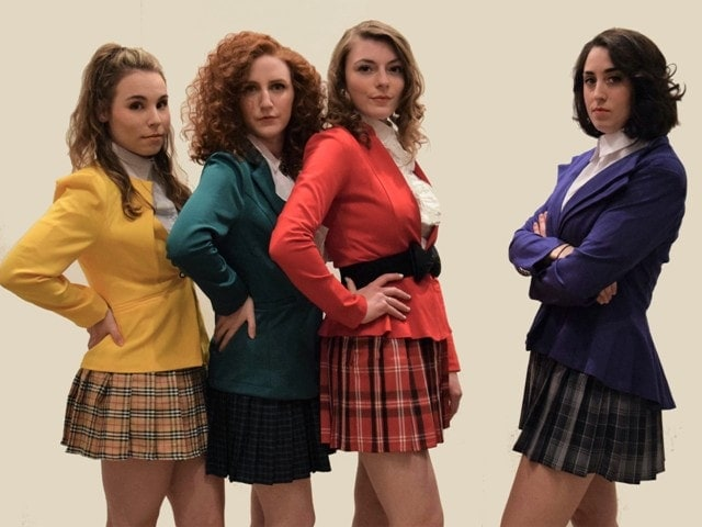The cast of 'Heathers'. Photo courtesy of Rockville Music Theatre.