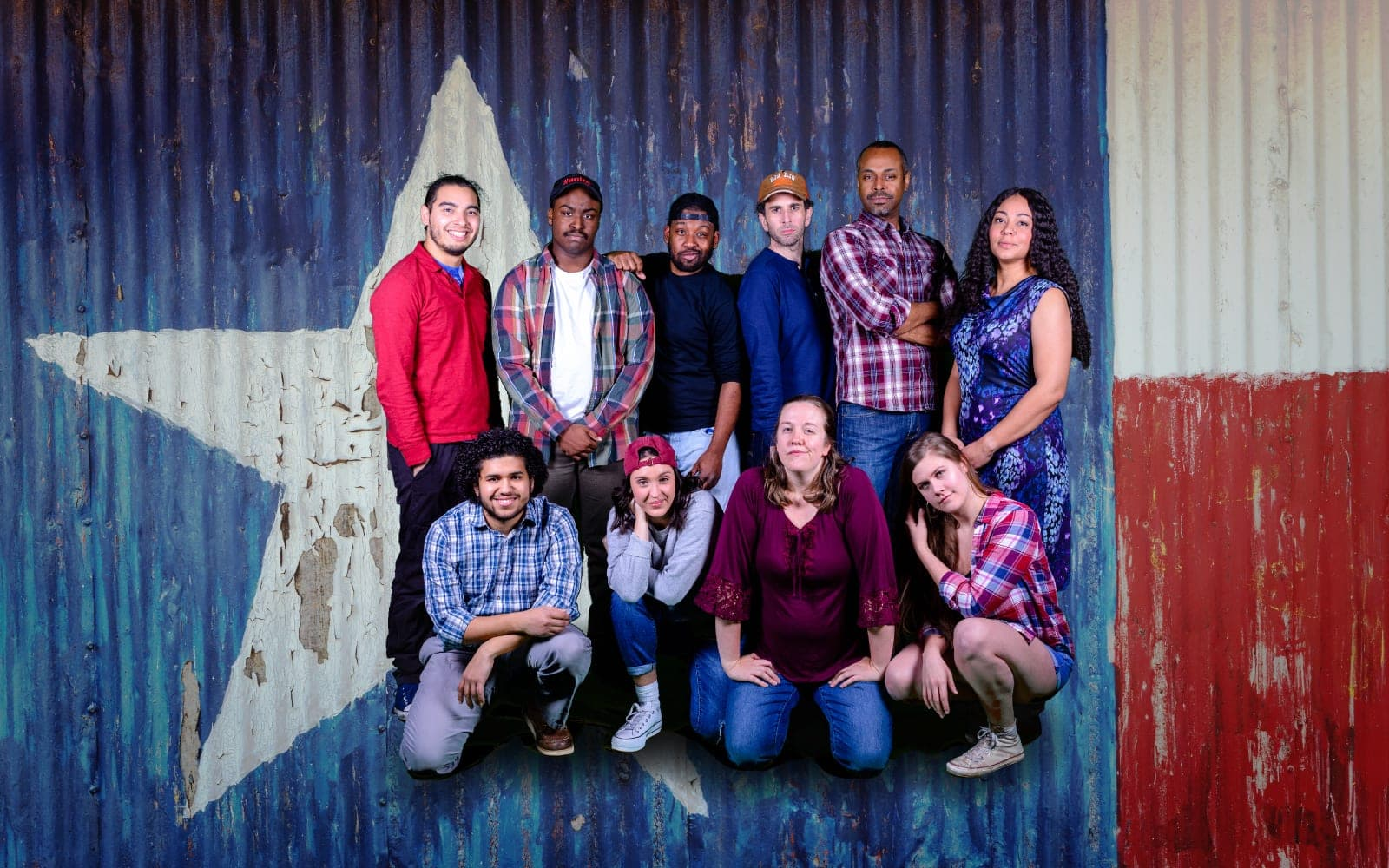The cast of Keegan Theatre's 'Hands on a Hardbody,.' Photo by Mike Kozemchak.