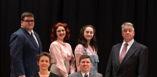 The cast of Sterling Playmakers' production of 'The Philadelphia Story.' Photo by Alan Price.