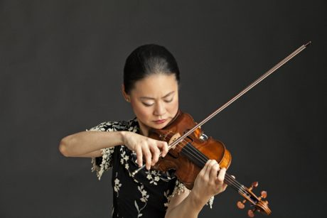 Violinist Midori. Photo by Timothy Greenfield-Sanders.