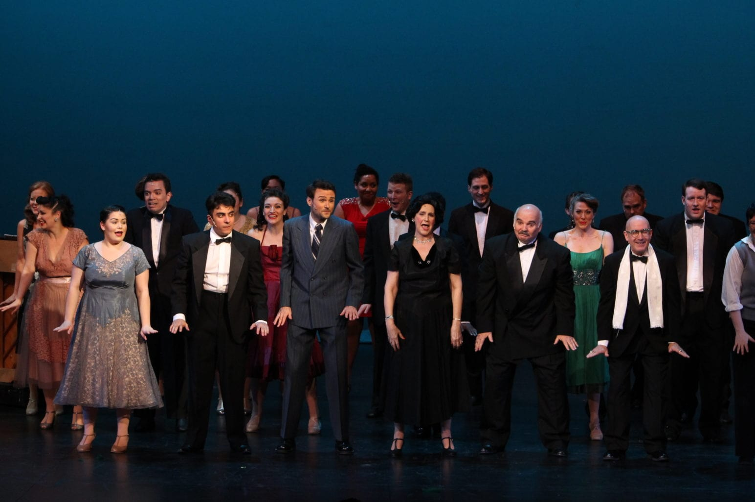 The cast of 'Curtains.' Photo courtesy of TAP.