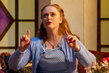 Ashley Amidon as Melissa in 'The Savannah Disputation' at the Little Theatre of Alexandria. Photo by Kyle Reardon.