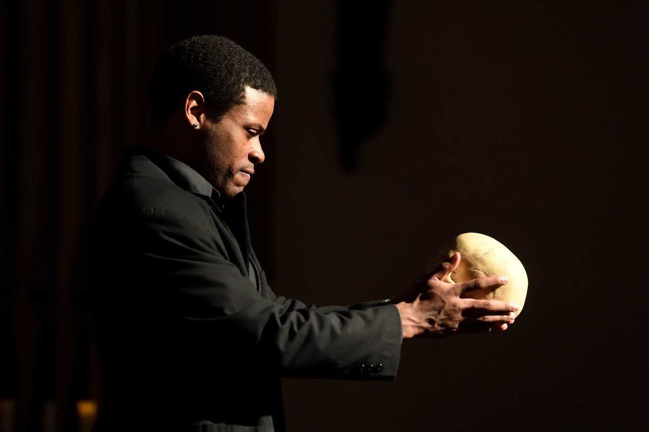 Terrance Fleming as Hamlet. Photo by Will Kirk.