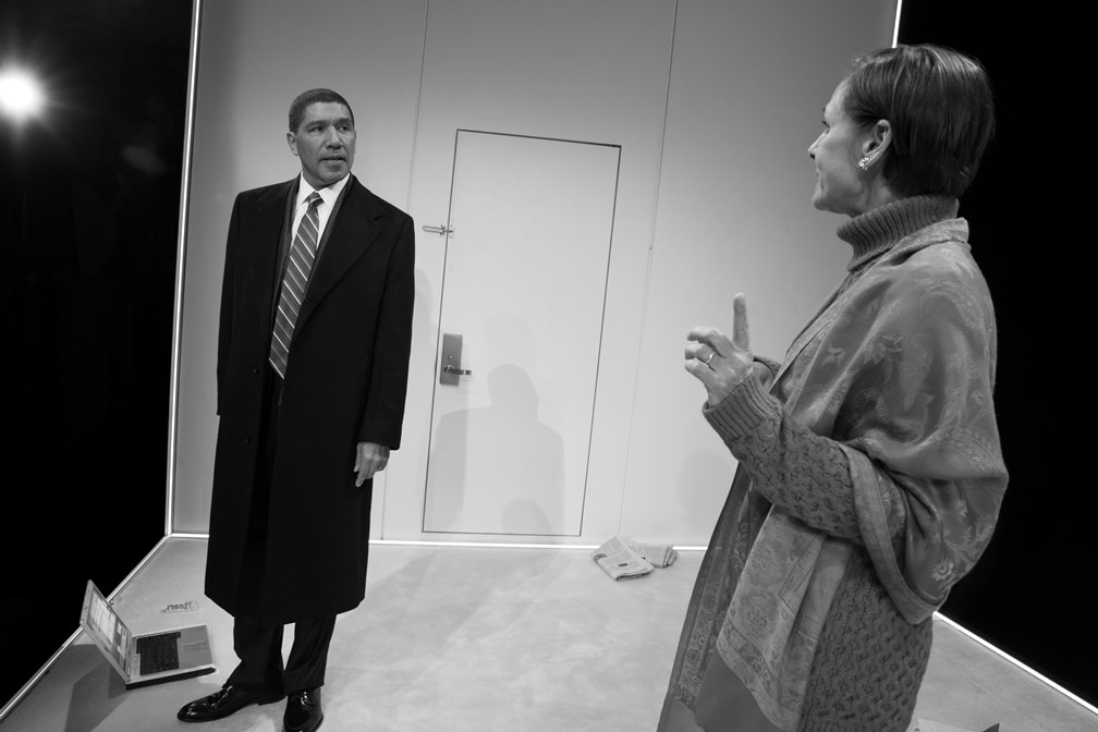 Peter Francis James and Laurie Metcalf. Photo by Julieta Cervantes.