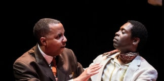 James J. Johnson and Jeremy Hunter in 'Les Deux Noirs.' Photo by Stan Barouh.