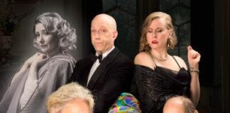 The cast of 'Blithe Spirit' at Vagabond Players. Photo courtesy of Vagabond Players.
