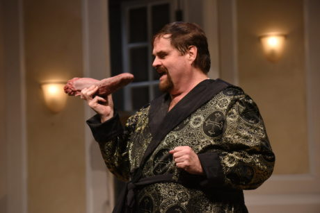 John Treacy Egan as Beppo in Ken Ludwig's 'Comedy of Tenors' at Olney Theatre Center. Photo by Stan Barouh.