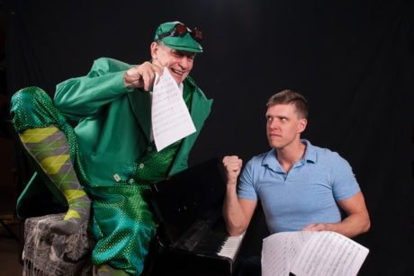Tom Newbrough as Mr. Bungee and Ron Giddings as Gordon in 'A New Brain.' Photo courtesy of the Colonial Players of Annapolis.