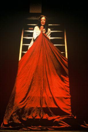 Franchelle Stewart Dorn as Lady Macbeth in 'Macbeth,' directed by Michael Kahn in 1988. Photo by Joan Marcus.