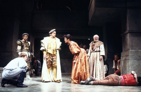 The cast of 'Romeo and Juliet,' Shakespeare Theatre Company's first production under Michael Kahn's direction in 1986. Photo by Joan Marcus.