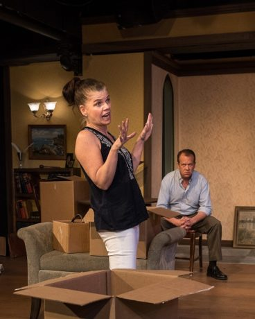 Maura Claire Harford and Sam Lunay in 'Appropriate' at Silver Spring Stage. Photo by Harvey Levine.