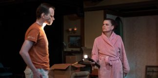 David Dieudonne and Maura Claire Harford in 'Appropriate' at Silver Spring Stage. Photo by Harvey Levine.