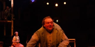 Sam Kobren is Quasimodo in The Hunchback of Notre Dame at Toby's Dinner Theatre. Photo by Jeri Tidwell.