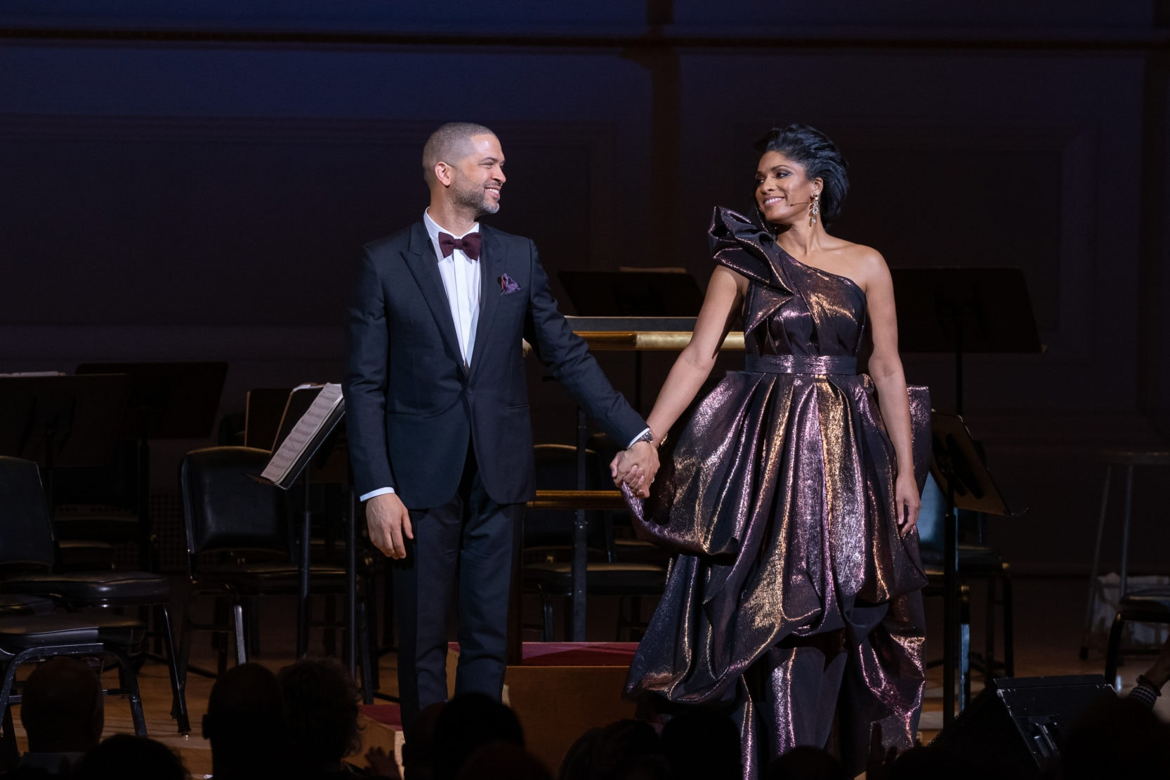 Jason Moran and Alicia Hall Moran at the March 30, 2019 Carnegie Hall performance of 'Two Wings: The Music of Black America in Migration.' Photo by Fadi Kheir.