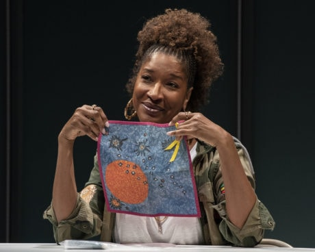 Liza Jessie Peterson in 'The Peculiar Patriot' at Woolly Mammoth Theatre Company. Photo by Teresa Castracane.