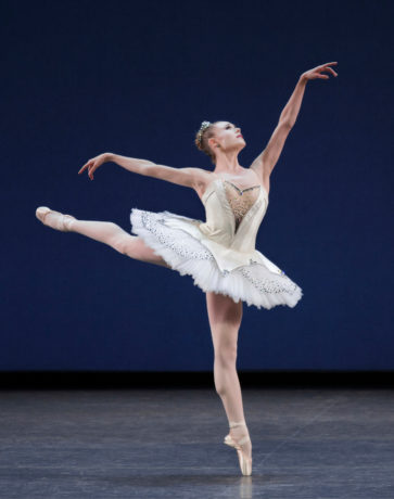 Sara Mearns in 'Symphony in C' by George Balanchine. Photo by Paul Kolnik.