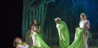 Aquila Theatre's touring production of 'A Midsummer Night's Dream' played on March 31 at George Mason University's Center for the Arts. Photo by Richard Termine.