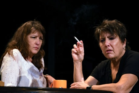 Beth Gilles-Whitehead as Barbara Fordham and Jayne L. Victor as Violet Weston in 'August: Osage County.' Photo by Chip Gertzog.