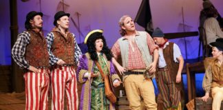 The cast of 'The Pirates of Penzance (or the Rascals of the Rappahannock)' at Riverside Center for the Performing Arts. Photo courtesy of Riverside Center for the Performing Arts.
