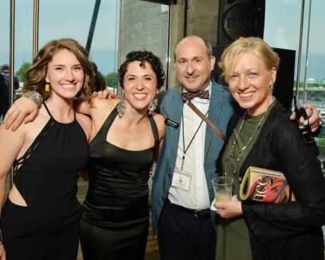 L-R: Amber McGinnis, Alyssa Wilmoth Keegan, Michael Kyrioglou, and Nanna Ingvarsson at the 2018 Helen Hayes Awards. Photo courtesy of Michael Kyrioglou.