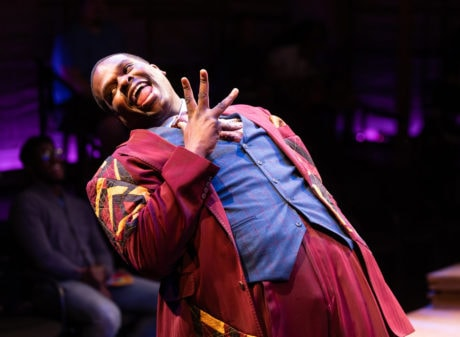 Marty Austin Lamar (Folk Man 2) in 'Spunk' at Signature Theatre. Photo by Christopher Mueller.
