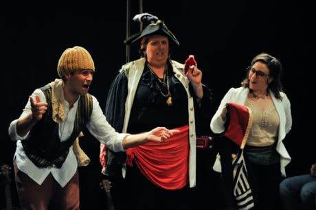 L-R: Alex Turner, Wyckham Avery, and Paige O'Malley in We Happy Few's production of 'Treasure Island.' Photo by Patrick Landes.