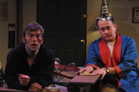 Patrick Newhart as Vito Antonucci and Adam Downs as Jimmy Zoole in Dominion Stage's production of 'P.S. Your Cat is Dead!' Photo by Matthew Randall.