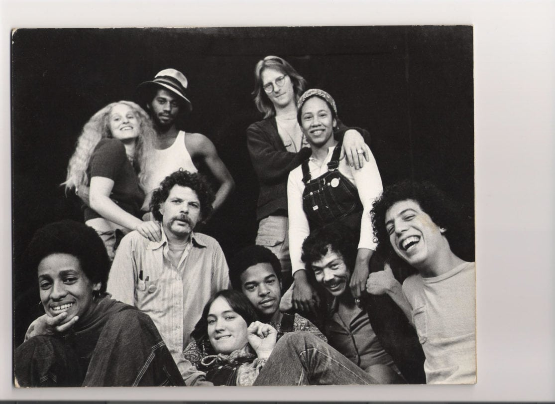 Jennifer L. Nelson (second from the right, top) and the company of Living Stage Theatre Company. Photo courtesy of theatreWashington.