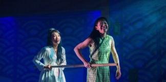 Eunice Bae and Momo Nakamura in 'The White Snake.' Photo by DJ Corey Photography.