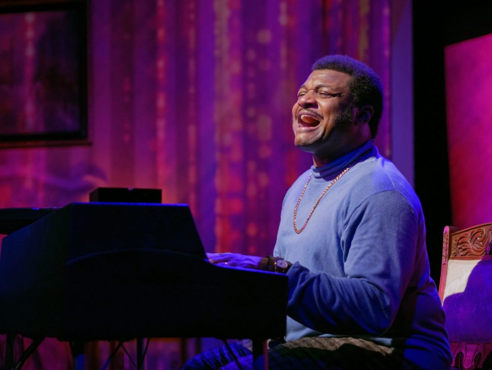 Kelvin Roston Jr. in 'Twisted Melodies' at Mosaic Theater Company of DC. Photo by John Chavez.