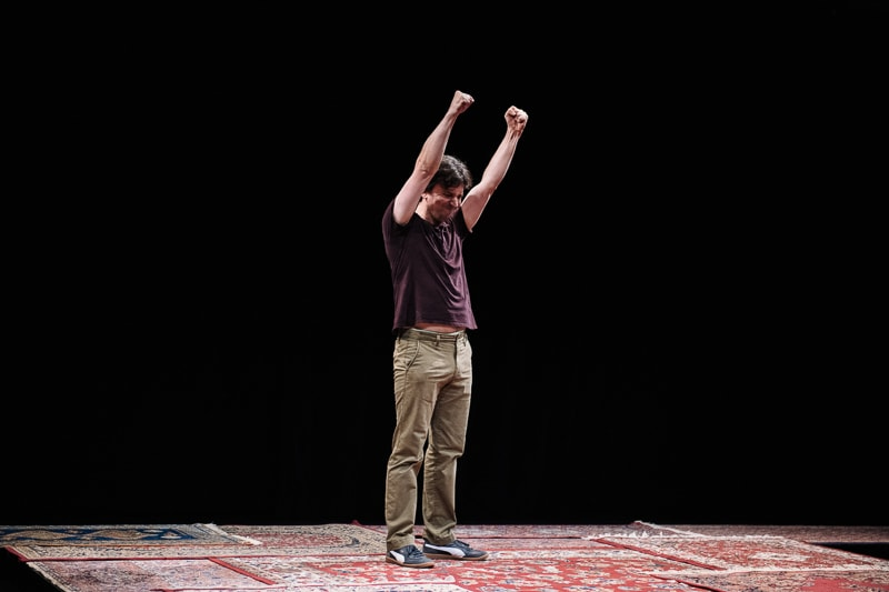 Alexander Strain in 'Every Brilliant Thing' at Studio Theatre. Photo by Teddy Wolff.