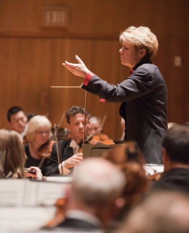 Marin Alsop leads the Baltimore Symphony Orchestra. Photo: Courtesy of the BSO.